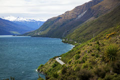 Winding scenic road in New Zealand Royalty Free Stock Image