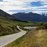 Winding scenic road in New Zealand Stock Photography