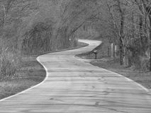 Winding section of Route 66. Section of  the Mother Road -Route 66 in a rural area of southwest Missouri Stock Photography