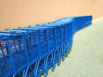 Winding Shopping Carts Stock Photo