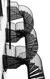 Winding spiral staircase. Royalty Free Stock Image