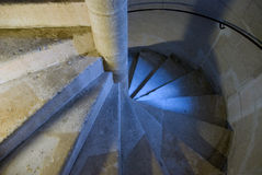 Winding spiral stairway Stock Image