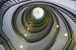 Winding staircase. As a form of architecture Royalty Free Stock Image
