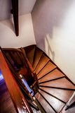 Staircase, French Chateau. A winding staircase inside a French Chateau near Le Mans, June 2015 Stock Images