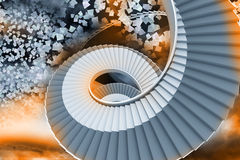 Winding staircase in the sky Royalty Free Stock Photography