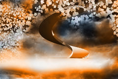 Winding staircase in the sky Stock Photos