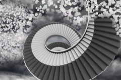 Winding staircase in the sky Stock Photo