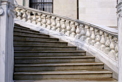 Winding stairs. Winding marble staircase at the side entrance of the massachusetts state house, boston Royalty Free Stock Photo