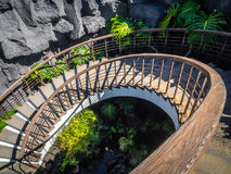 Winding Stairs in the Cesar Marique Foundation Royalty Free Stock Photo