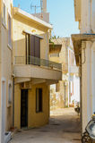 Winding street in Rethymnon . Greece. Stock Image