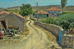 The winding streets of the village. In Turkey Stock Image
