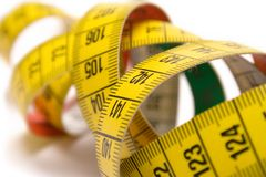 Winding Tape Measure. Made to measure Stock Photos
