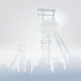 Winding towers in the snow Stock Photography