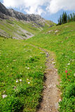 Winding trail to mountain top Stock Images
