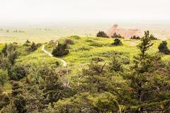 Winding Trails   Badlands National Park, South Dakota, USA Royalty Free Stock Image