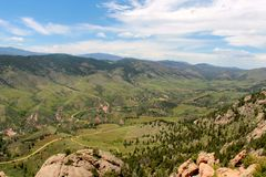 Winding Trails in a Colorado Valley Royalty Free Stock Photography