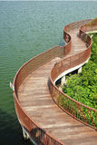 Winding Wooden Bridge Stock Photos