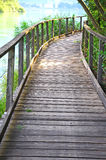 Winding wooden path Royalty Free Stock Photo