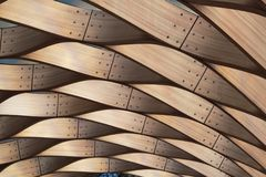 Winding wooden pattern structure. Architect background. Royalty Free Stock Image
