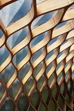Winding wooden pattern structure. Architect background. Stock Photography
