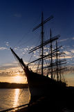 Windjammer Pommern Stock Photos