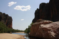 Windjana gorge, gibb river, kimberley, western australia Royalty Free Stock Images