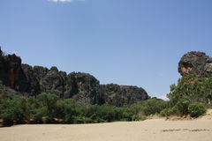 Windjana gorge, gibb river, kimberley, western australia Royalty Free Stock Images