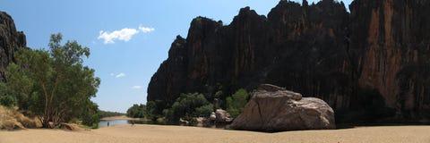 Windjana gorge, gibb river, kimberley, western australia Royalty Free Stock Image