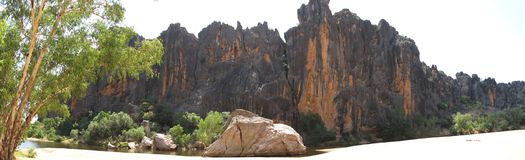 Windjana gorge, gibb river, kimberley, western australia Royalty Free Stock Photo