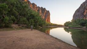 Windjana klyfta, konung Leopold Ranges, Kimberley Västra Australi Royaltyfri Fotografi