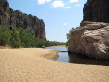 Windjana wąwóz, gibb rzeka, Kimberley, zachodnia australia Zdjęcia Stock
