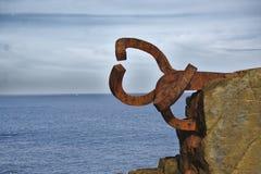 Windkam, beeldhouwwerk door Eduardo Chillida Stock Afbeelding