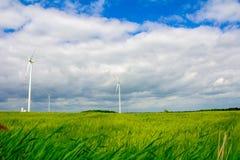 Windkraftanlage auf dem Gebiet Stockfoto