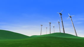 Windkraftanlage-auswechselbare grüne Energie lizenzfreie abbildung