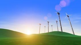 Windkraftanlage-auswechselbare grüne Energie stock abbildung