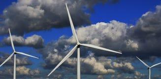 Windkraftanlage-Bildung Lizenzfreie Stockfotografie