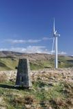 Windkraftanlage mit Triglyzerid-Punkt Stockfoto