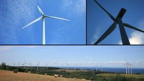 Windkraftanlage-Montage stock footage