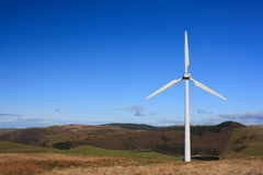 Windkraftanlage in Wales Stockbild