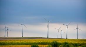 Windkraftanlagebauernhof Lizenzfreie Stockfotos