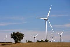 Windkraftanlagebauernhof Stockfoto