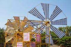 Windkraftanlagelendenschurz Stockfotos