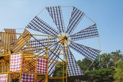 Windkraftanlagelendenschurz Stockfoto
