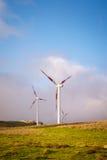 Windkraftanlagen Stockfotografie