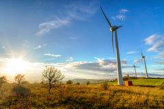 Windkraftanlagen Stockbilder