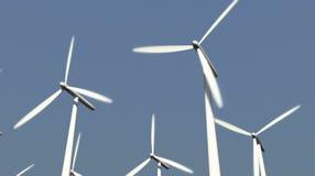 Windkraftanlagen stock footage
