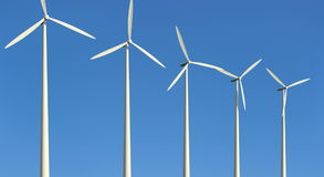 Windkraftanlagen stock video footage