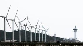 Windkraftanlagen auf dem Kap Lizenzfreie Stockbilder