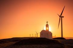 Windkraftanlagen an einem Windpark Lizenzfreie Stockfotografie