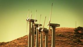 Windkraftanlagen (erneuerbare Energie) stock video footage